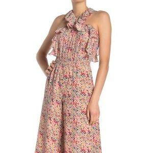 Rebecca Taylor Margo Floral Silk-blend Jumpsuit